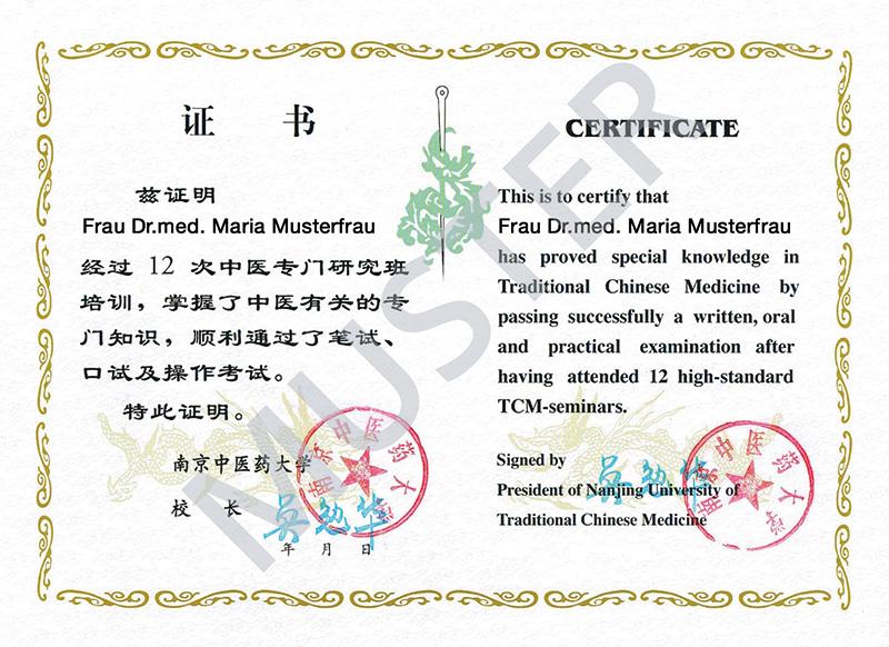 Nanjing-Diplom-Musterfrau